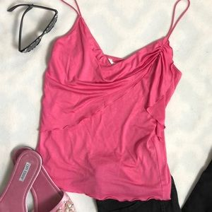DVF SILK Cotton Pink Cami Tank